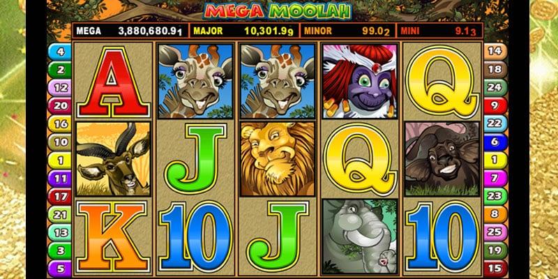 mega moolah caça-níquel progressivo