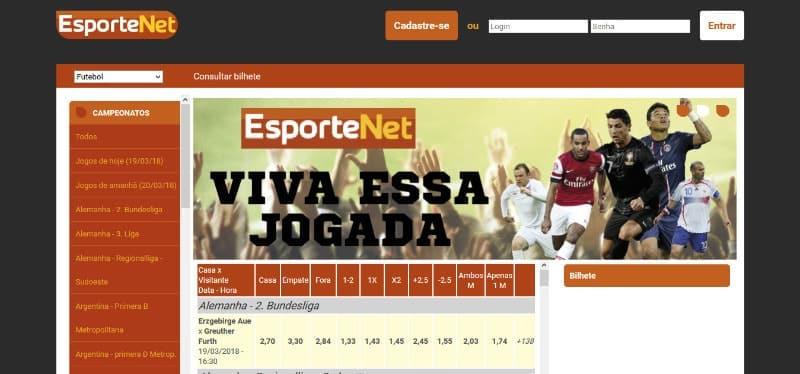 Esporte net vip apostas online
