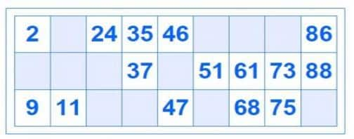 bingo 90 bolas