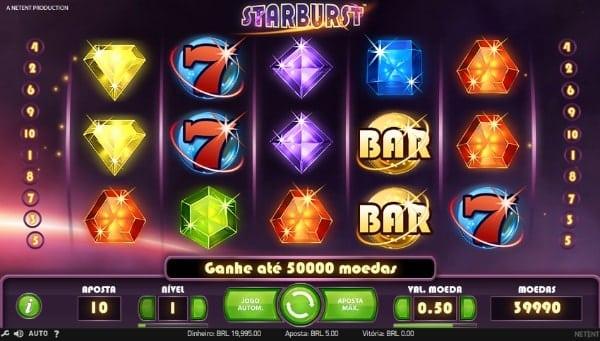 starburst melhores slots