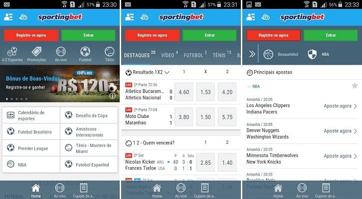 sportingbet app celular