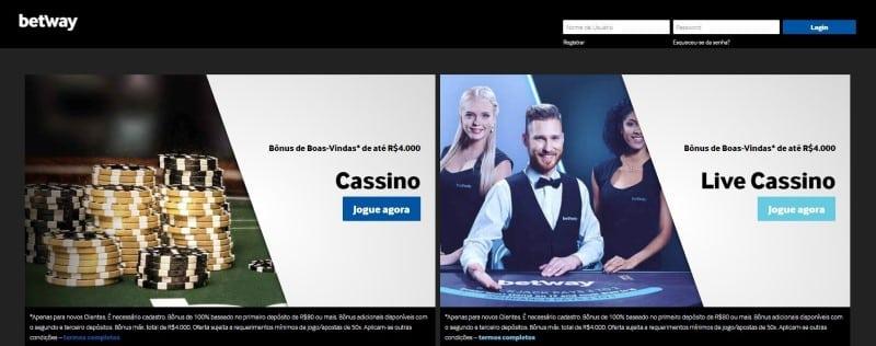 Betway Casino possui muitas opções para os apostadores
