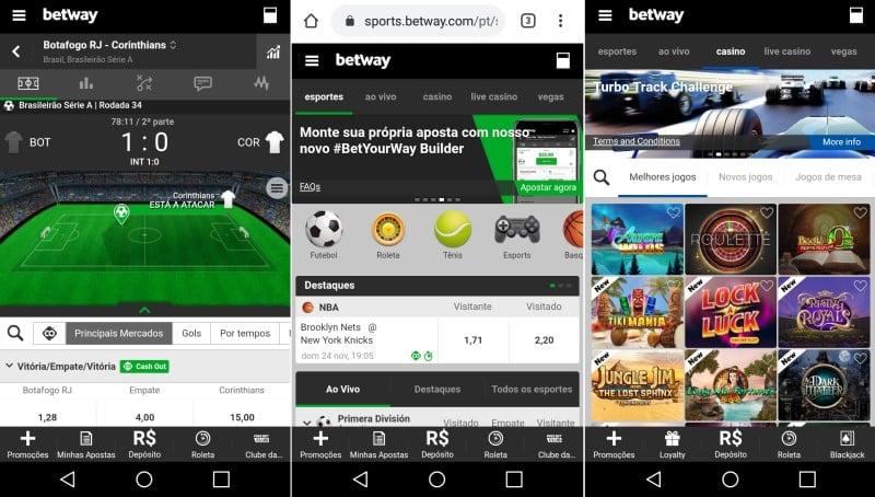 O Betway app foi desenvolvido apenas para iOS. Usuários Android têm site responsivo