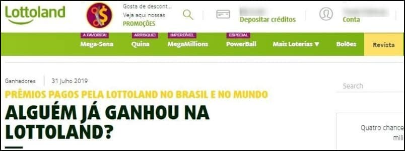Artigo da revista do site