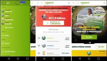 Imagens do App Lottoland