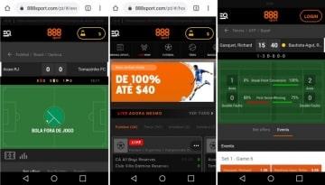 Site responsivo do 888sport Brasil