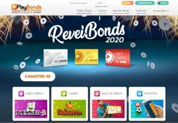 Nova homepage do Playbonds Brasil