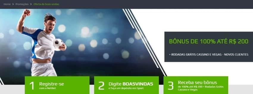 Banner do bônus de boas-vindas do NetBet