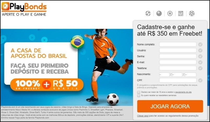 Playbonds bônus de boas-vindas exclusivo!