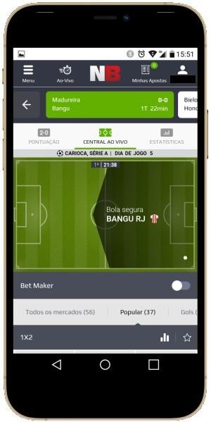 Tela do NetBet app