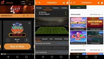 Betsson app é leve e simples de usar