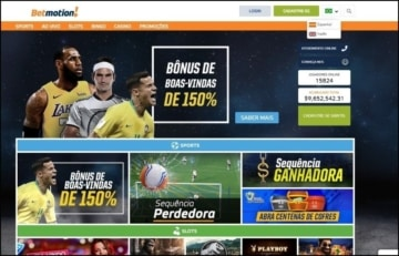Homepage do Betmotion Brasil