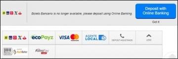 Opções de depósito no 888poker Brasil
