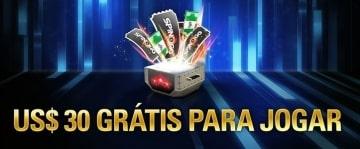 No PokerStars, opção ao bônus de depósito são $30 grátis