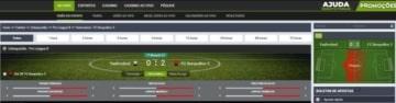 tela de jogo de futebol no Suprabets