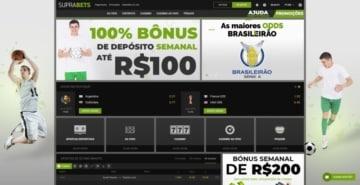 homepage do site de apostas Suprabets