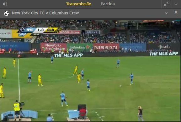 Streaming, no bet365, de jogo da MLS.