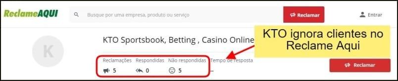 KTO Brasil não atende clientes pelo Reclame Aqui