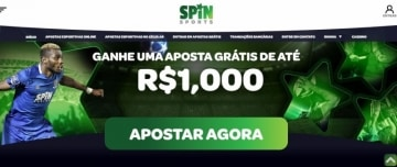 Banner do bônus de boas-vindas do Spin Sports Brasil