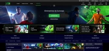 Homepage do Spin Sports Brasil