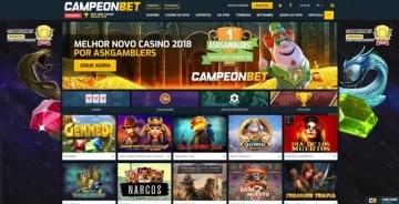 Homepage do Campeonbet Brasil