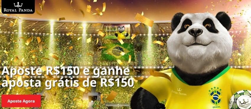 Banner do bônus de boas-vindas do Royal Panda Sports