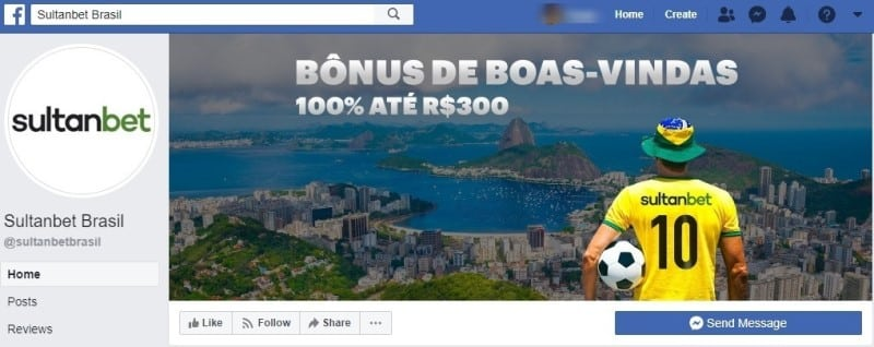 Facebook do Sultanbet ainda é recente.