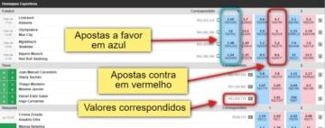 Interface do Exchange Betfair