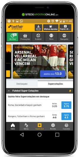 App Betfair Sportsbook é leve