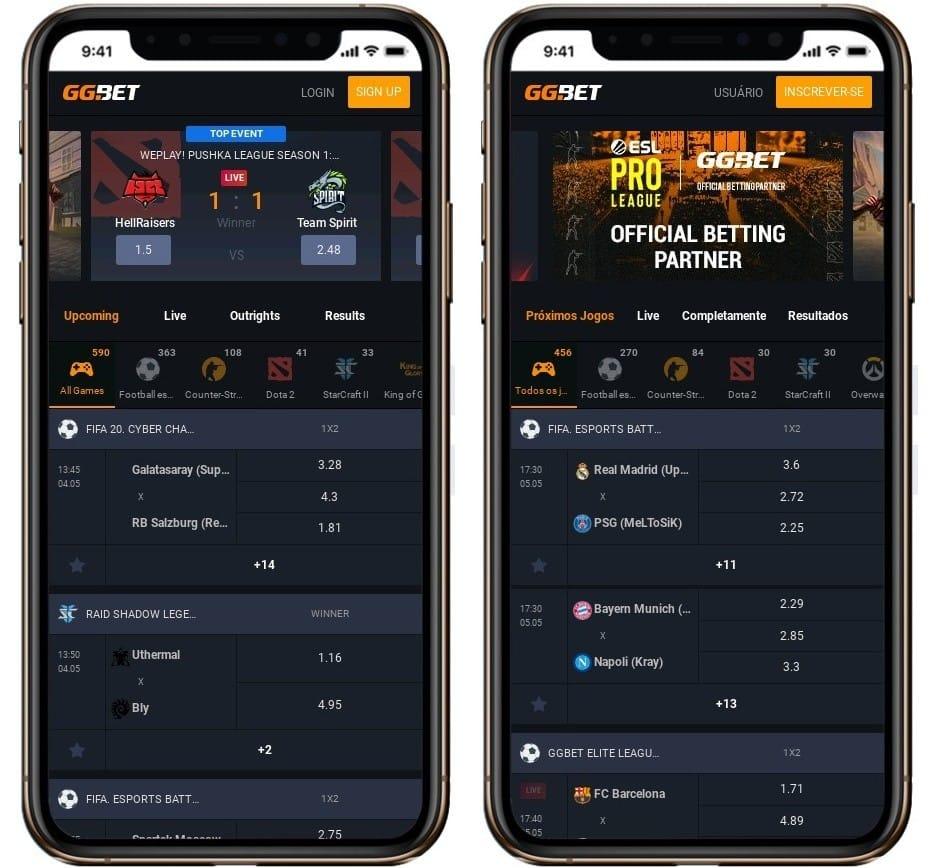 Site do gg.bet roda bem em dispositivos Android e iOS