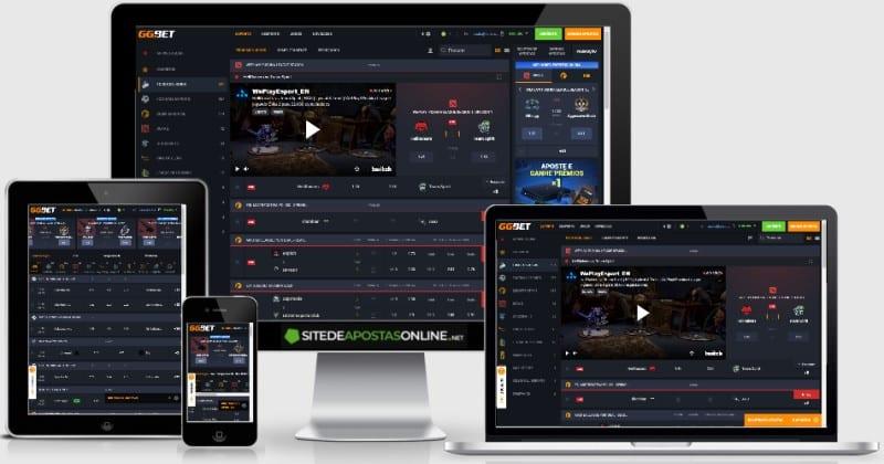 Site responsivo do GGBET funciona bem em qualquer tela ou sistema