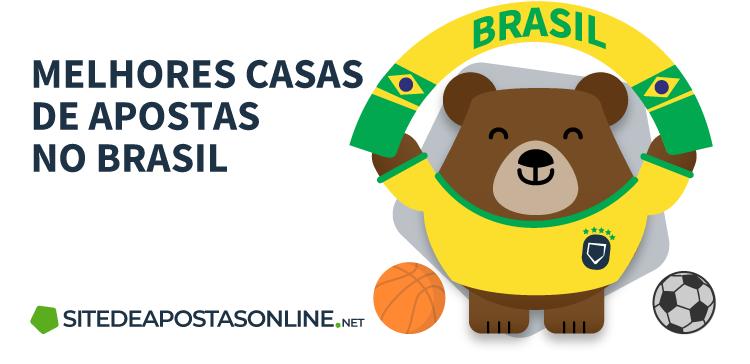 mascote Betto vestindo uniforme do Brasil ao lado da frase melhores casas de apostas no Brasil