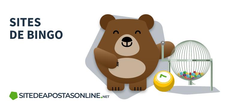 urso Betto ao lado de globo de sorteio de bingo