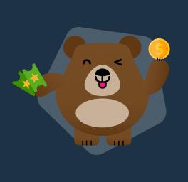 urso Betto com cupom de apostas