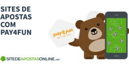 logo pay4fun e mascote betto com apostas no celular