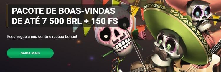banner da promoção de boas-vindas 1xslots