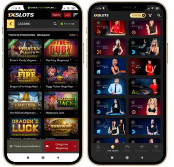 capturas de tela da navegação no celular