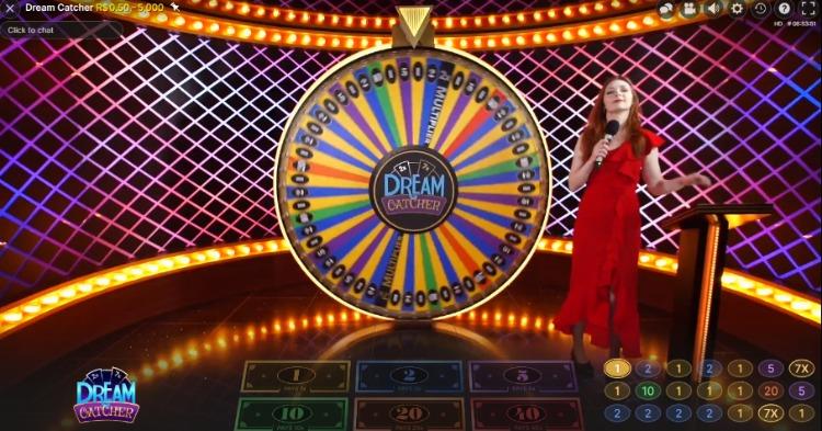 jogo Dream Catcher no cassino ao vivo 1xSlots
