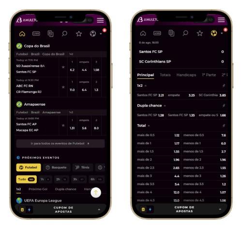 Captura de tela do Amuletobet no celular
