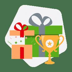 troféu bonus presente