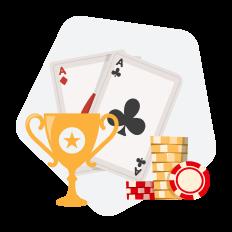 cartas poker troféu