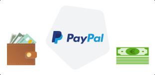 carteira dinheiro logotipo paypal